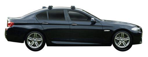 Whispbar Dakdragers (Silver) BMW 5 Series F10 4dr Sedan met Vaste bevestigingspunten bouwjaar 2013 - 2017|Complete set dakdragers