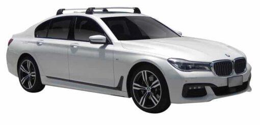 Whispbar Dakdragers (Silver) BMW 7 Series G11 4dr Sedan met Vaste bevestigingspunten bouwjaar 2016 - e.v. Complete set dakdragers