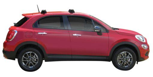 Whispbar Dakdragers (Silver) Fiat 500X 5dr Hatch met Vaste bevestigingspunten bouwjaar 2015 - e.v. Complete set dakdragers