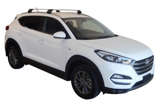 Whispbar Dakdragers (Black) Hyundai Tucson Glass Roof 5dr SUV met Geintegreerde rails bouwjaar 2015 - e.v. Complete set dakdragers