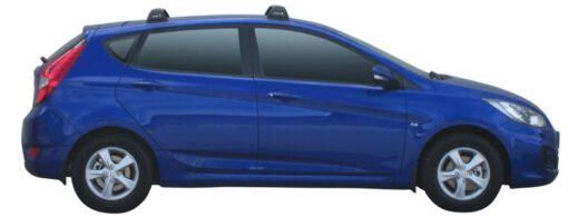 Whispbar Dakdragers (Silver) Hyundai Accent 5dr Hatch met Vaste bevestigingspunten bouwjaar 2011 - 2015|Complete set dakdragers