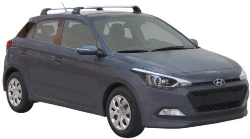 Whispbar Dakdragers (Silver) Hyundai i20 5dr Hatch met Vaste bevestigingspunten bouwjaar 2015 - e.v. Complete set dakdragers