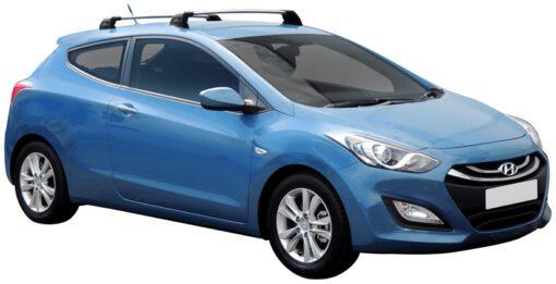 Whispbar Dakdragers (Silver) Hyundai i30 3dr Hatch met Vaste bevestigingspunten bouwjaar 2013 - 2017|Complete set dakdragers