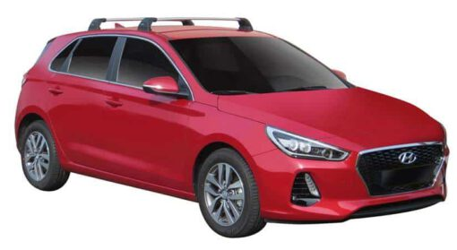Whispbar Dakdragers (Silver) Hyundai i30 5dr Hatch met Vaste bevestigingspunten bouwjaar 2017 - e.v. Complete set dakdragers