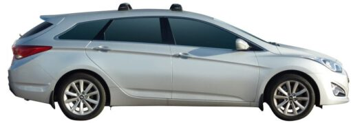 Whispbar Dakdragers (Silver) Hyundai i40 Tourer 5dr Estate met Vaste bevestigingspunten bouwjaar 2011 - e.v.|Complete set dakdragers