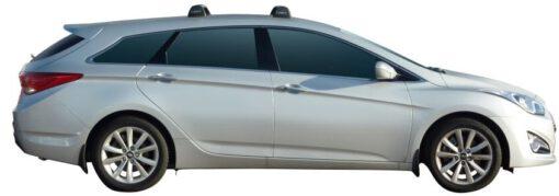 Whispbar Dakdragers (Silver) Hyundai i40 Tourer 5dr Estate met Vaste bevestigingspunten bouwjaar 2011 - e.v. Complete set dakdragers