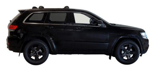 Whispbar Dakdragers (Silver) Jeep Grand Cherokee WK2 SRT-8 / Blackhawk 5dr SUV met Vaste bevestigingspunten bouwjaar 2012 - e.v. Complete set dakdragers