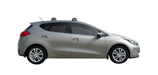 Whispbar Dakdragers (Silver) Kia Cee'd 5dr Hatch met Vaste bevestigingspunten bouwjaar 2012 - 2015|Complete set dakdragers