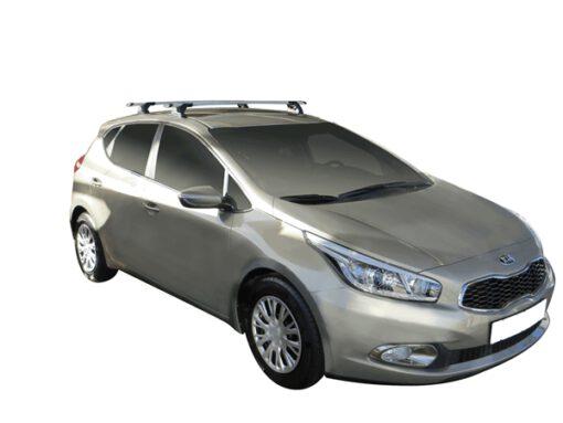 Whispbar Dakdragers (Silver) Kia Cee'd 5dr Hatch met Vaste bevestigingspunten bouwjaar 2012 - 2015 Complete set dakdragers