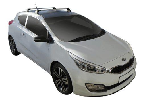 Whispbar Dakdragers (Silver) Kia pro_cee'd 3dr Hatch met Vaste bevestigingspunten bouwjaar 2013 - e.v. Complete set dakdragers