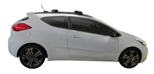 Whispbar Dakdragers (Silver) Kia pro_cee'd 3dr Hatch met Vaste bevestigingspunten bouwjaar 2013 - e.v.|Complete set dakdragers