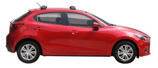 Whispbar Dakdragers (Silver) Mazda 2 5dr Hatch met Vaste bevestigingspunten bouwjaar 2015 - 2017 Complete set dakdragers