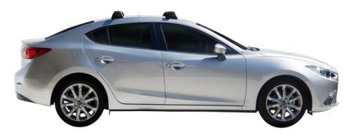 Whispbar Dakdragers (Silver) Mazda 3 4dr Sedan met Vaste bevestigingspunten bouwjaar 2016 - e.v.|Complete set dakdragers