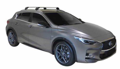 Whispbar Dakdragers (Zilver) Infiniti QX30 5dr SUV met Geintegreerde rails bouwjaar 2016 - e.v.|Complete set dakdragers