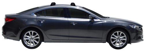 Whispbar Dakdragers (Silver) Mazda 6 4dr Sedan met Vaste bevestigingspunten bouwjaar 2012 - e.v. Complete set dakdragers