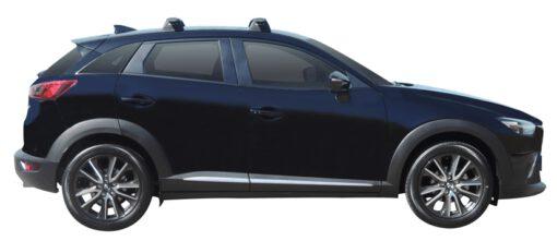 Whispbar Dakdragers (Silver) Mazda CX-3 5dr SUV met Vaste bevestigingspunten bouwjaar 2015 - e.v.|Complete set dakdragers
