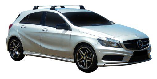 Whispbar Dakdragers (Silver) Mercedes-Benz A-Class 5dr Hatch met Vaste bevestigingspunten bouwjaar 2013 - 2015|Complete set dakdragers