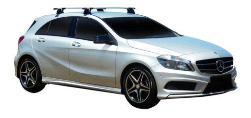 Whispbar Dakdragers (Silver) Mercedes-Benz A-Class 5dr Hatch met Vaste bevestigingspunten bouwjaar 2016 - e.v.|Complete set dakdragers