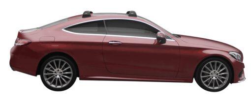 Whispbar Dakdragers (Silver) Mercedes-Benz C-Class W205 Glass Roof 2dr Coupe met Vaste bevestigingspunten bouwjaar 2015 - e.v.|Complete set dakdragers