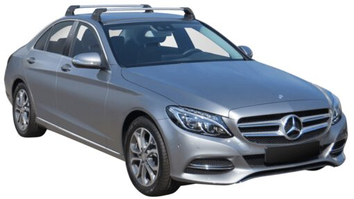 Whispbar Dakdragers (Silver) Mercedes-Benz C-Class W205 4dr Sedan met Vaste bevestigingspunten bouwjaar 2014 - e.v. Complete set dakdragers
