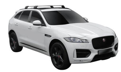 Whispbar Dakdragers (Black) Jaguar F-Pace 5dr SUV met Geintegreerde rails bouwjaar 2016 - e.v.|Complete set dakdragers