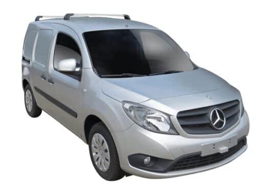 Whispbar Dakdragers (Silver) Mercedes-Benz Citan LWB 5dr Van met Vaste bevestigingspunten bouwjaar 2012 - e.v.|Complete set dakdragers