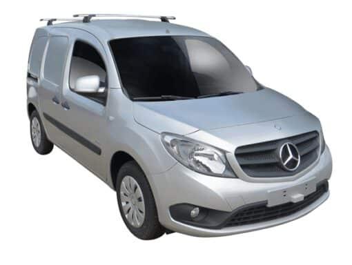 Whispbar Dakdragers (Silver) Mercedes-Benz Citan LWB 5dr Van met Vaste bevestigingspunten bouwjaar 2012 - e.v. Complete set dakdragers