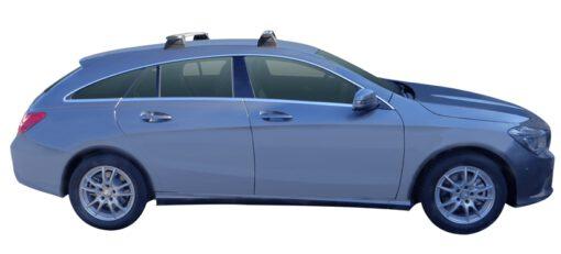 Whispbar Dakdragers (Silver) Mercedes-Benz CLA Shooting Brake 5dr Estate met Vaste bevestigingspunten bouwjaar 2015 - e.v.|Complete set dakdragers