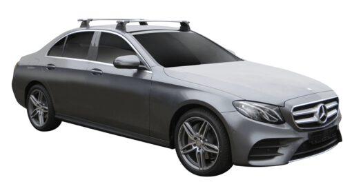 Whispbar Dakdragers (Silver) Mercedes-Benz E-Class W213 4dr Sedan met Vaste bevestigingspunten bouwjaar 2016 - e.v.|Complete set dakdragers