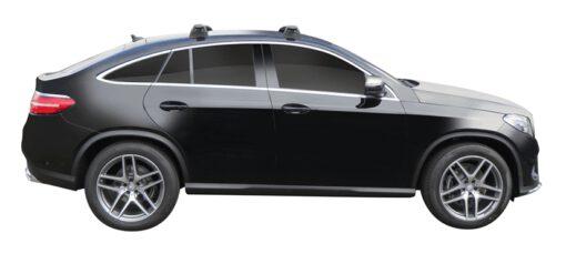 Whispbar Dakdragers (Silver) Mercedes-Benz GLE 5dr Coupe met Vaste bevestigingspunten bouwjaar 2015 - e.v. Complete set dakdragers