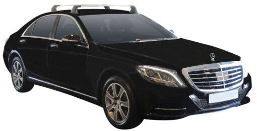 Whispbar Dakdragers (Silver) Mercedes-Benz S-Class W222 4dr Sedan met Vaste bevestigingspunten bouwjaar 2014 - e.v. Complete set dakdragers