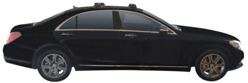 Whispbar Dakdragers (Silver) Mercedes-Benz S-Class W222 4dr Sedan met Vaste bevestigingspunten bouwjaar 2014 - e.v.|Complete set dakdragers