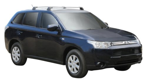 Whispbar Dakdragers (Silver) Mitsubishi Outlander GX1 5dr SUV met Vaste bevestigingspunten bouwjaar 2012 - e.v.|Complete set dakdragers