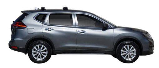 Whispbar Dakdragers (Silver) Nissan X-Trail 5dr SUV met Vaste bevestigingspunten bouwjaar 2017 - e.v. Complete set dakdragers