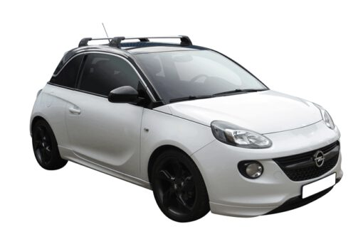 Whispbar Dakdragers (Silver) Opel Adam 3dr Hatch met Vaste bevestigingspunten bouwjaar 2013 - e.v. Complete set dakdragers