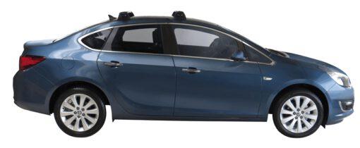 Whispbar Dakdragers (Silver) Opel Astra 4dr Sedan met Vaste bevestigingspunten bouwjaar 2013 - e.v. Complete set dakdragers