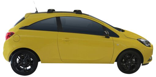 Whispbar Dakdragers (Silver) Opel Corsa 3dr Hatch met Vaste bevestigingspunten bouwjaar 2015 - e.v.|Complete set dakdragers