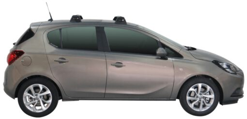 Whispbar Dakdragers (Silver) Opel Corsa 5dr Hatch met Vaste bevestigingspunten bouwjaar 2015 - e.v.|Complete set dakdragers