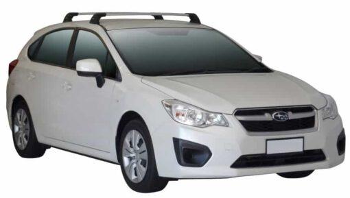 Whispbar Dakdragers (Silver) Subaru Impreza 5dr Hatch met Vaste bevestigingspunten bouwjaar 2013 - 2014 Complete set dakdragers