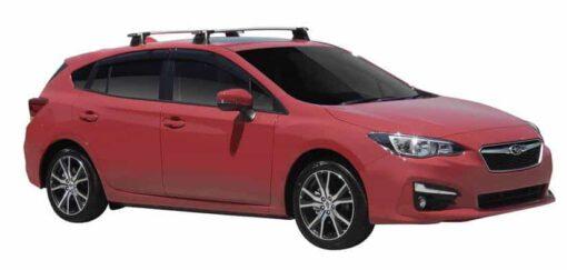 Whispbar Dakdragers (Silver) Subaru Impreza 5dr Hatch met Vaste bevestigingspunten bouwjaar 2017 - e.v.|Complete set dakdragers