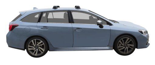 Whispbar Dakdragers (Silver) Subaru Levorg 5dr Estate met Vaste bevestigingspunten bouwjaar 2015 - e.v.|Complete set dakdragers