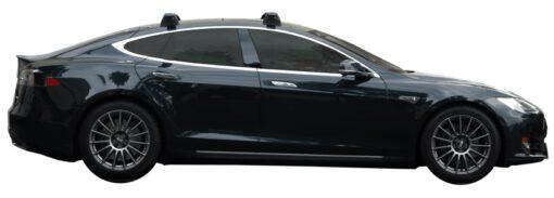 Whispbar Dakdragers (Silver) Tesla Model S 5dr Hatch met Vaste bevestigingspunten bouwjaar 2012 - 2015|Complete set dakdragers