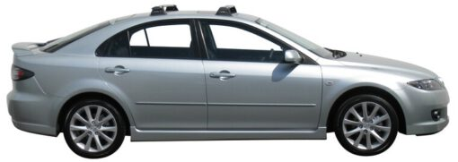 Whispbar Dakdragers Zilver Mazda 6 5dr Hatch met Vaste bevestigingspunten bouwjaar 2002-e.v. Complete set dakdragers