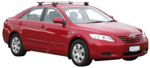 Whispbar Dakdragers Zilver Toyota Camry 4dr Sedan met Glad dak bouwjaar 2006-2012 Complete set dakdragers