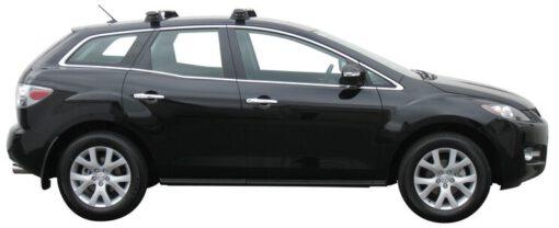 Whispbar Dakdragers Zilver Mazda CX-7 5dr SUV met Vaste bevestigingspunten bouwjaar 2006-2012 Complete set dakdragers