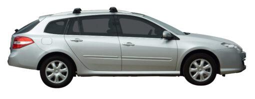 Whispbar Dakdragers Zilver Renault Laguna III 5dr Estate met Dakrails bouwjaar 2008-2015 Complete set dakdragers
