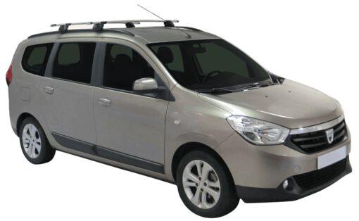 Whispbar Dakdragers (Zilver) Dacia Lodgy 5dr MPV met Geintegreerde rails bouwjaar 2012 - e.v.|Complete set dakdragers