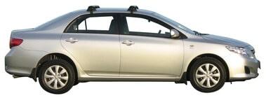 Whispbar Dakdragers Zilver Toyota Corolla 4dr Sedan met Glad dak bouwjaar 2007-2013 Complete set dakdragers