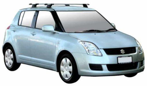 Whispbar Dakdragers Zilver Suzuki Swift 5dr Hatch met Vaste bevestigingspunten bouwjaar 2004-2010 Complete set dakdragers