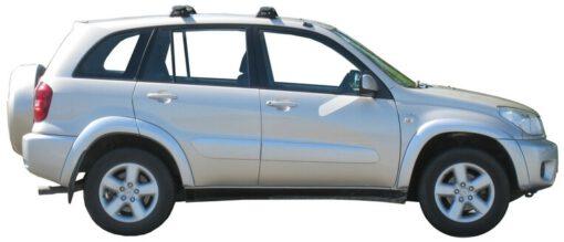 Whispbar Dakdragers Zilver Toyota Rav 4 5dr SUV met Vaste bevestigingspunten bouwjaar 2000-2004 Complete set dakdragers